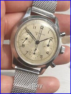 Rare Vintage Wittnauer Chronograph 1940s Oversized (38mm) Val 71 Movement