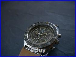 Rare Vintage ZENITH El Primero Pilot Diver Chronograph 3019PHC GREY 01.0150.415