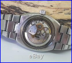 Rare Vintage Zenith Defy Automatic Grey Dial Date Man's Watch