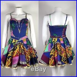 Rare Vtg Gianni Versace Jeans 1992 Baroque Dress