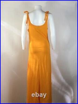 Rare Vtg Jean Paul Gaultier Jeans Orange Eye Print Long Dress S