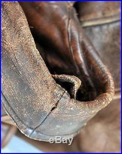 Rare WWI Antique Vintage Full-Grain Leather Trench Coat Aust Made Sz S-M Unisex