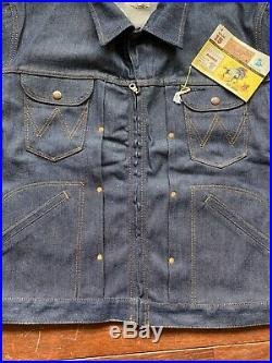 Rare Wrangler Blue Bell Rodeo Series Denim Jacket Sanforized Large 12oz LVC