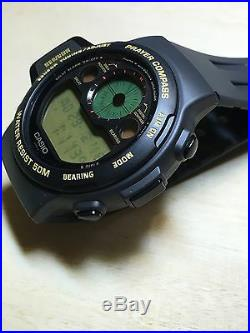 Rare vintage casio CPW-300 Prayer Compass watch Muslims NOS NEW Made In Japan