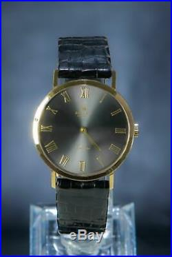 Rolex Cellini Rare Dial Grey 18K Solid Yellow Gold Men's Dress Watch Ref 4112