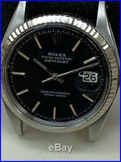 Rolex Datejust 1601 Vintage Rare Black Luminous Dial Stainless Steel