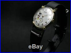 Rolex Disney Mickey Mouse Watch Hand-Rolled Antique Vintage Rare Working