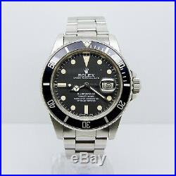 Rolex Submariner 16800 Matte Dial Box and Papers 1983 Full Set Vintage Rare