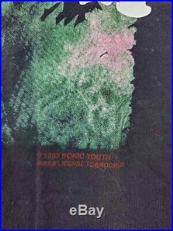 SONIC YOUTH BLACK T SHIRT XL GRACIAS tshirt VINTAGE Rare Bunny Nirvana Brockum
