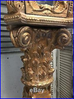 Stunning, Rare, Carved Wood, French Gilt Gold Lanterns, Rocco, Vintage