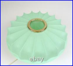 Stunning Rare Original 50s MID Century Vtg Green Cocoon Ceiling Lamp 1950
