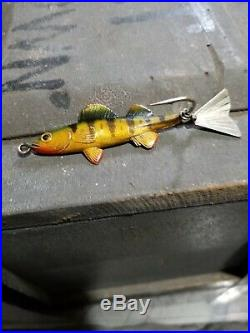 Super Rare Tin Liz Walleye old fishing lure Fred Arbogast