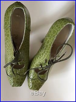 Super Rare Vintage Vivienne Westwood Mock Croc Elevated Gillie UK5