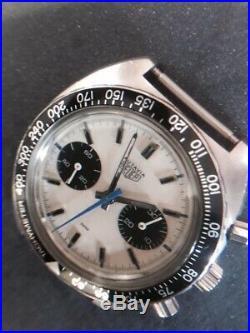 Super rare vintage Heuer Autavia Chronograph Ref 73363 Siffert color