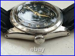 TUDOR Oyster Ref 7904 Manual Rare 1950's Black Dial Oyster Steel Case Serviced