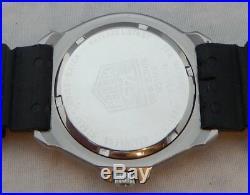 Tag Heuer F1 Formula One 35mm Mens RARE PINK/BLACK 1990's Vintage Watch