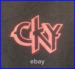 True Vintage CKY Camp Kill Yourself Hoodie BAM Margera Jackass Skate Band Rare