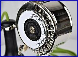 Ultra RARE! Vintage Antique Strowger Potbelly Dial Candlestick Circa 1905