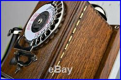 Ultra RARE! Vintage Antique Strowger Wood Wall Phone Circa 1905