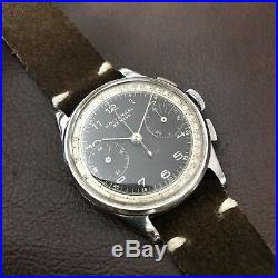Ultra Rare 1940s Universal Geneve Compur 30 Two Tone Dial Vintage Chronograph