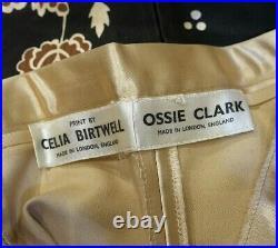 VERY RARE 60's VINTAGE OSSIE CLARK CELIA BIRTWELL LAMBORGHINI TROUSER SUIT UK 8