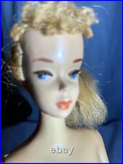 VINTAGE BARBIE #3 Blonde Ponytail Rare Pink Eyeshadow. All Original