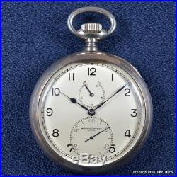 Vacheron & Constantin German Royal Marine Deck Chronometer 925 Silver 60mm Rare
