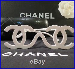 Very Rare Auth Chanel White Vintage Runway Sample Sunglasses F/w 1994 Collectors