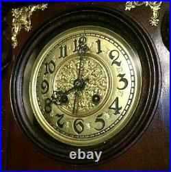 Very Rare Germany Wall Clock Antique Regulator striking and Pendulum 1900