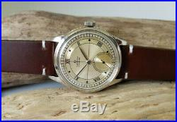Very Rare Vintage 1944 Omega Chronometer Sub Second Cal30t2 Rg Man's Watch