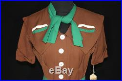 Very Rare Wwii Collectable Vintage Deadstock 1940's Rayon Gabardine Dress Size 4