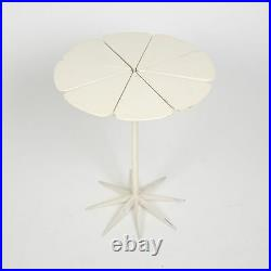 Vintage 1960's Knoll Richard Schultz Petal Table Rare Enameled Redwood White