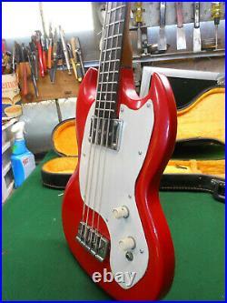 Vintage 1967 Rare GIBSON Melody Maker EB-0 Electric Bass Guitar SG