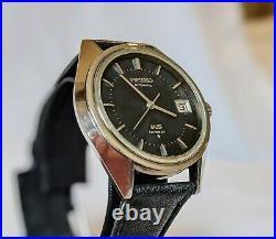 Vintage 1971 KING SEIKO HI-BEAT 5625-7110 Rare Black Dial Automatic Watch