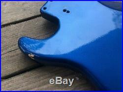 Vintage 1972-1976 Fender Stratocaster Body Lake Placid Blue Hardtail RARE
