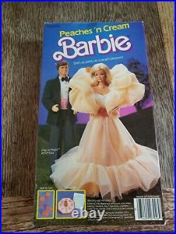 Vintage 1984 Peaches N Cream Barbie Doll Mattel #7926 Nib Rare Nrfb