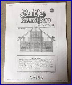 Vintage 1985 Mattel Barbie Dream House, Car, Furniture & Instructions RARE