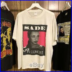 Vintage 1993 Sade Love deluxe 1 Of 1 Rare Hip Hop Rap Tee Shirt R&B L/XL VTG