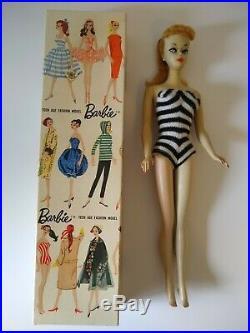 Vintage #2 barbie number two ponytail blond TM body box booklet rare htf