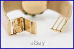 Vintage $20,000 MALACHITE 18k Yellow Gold LADIES 34mm CHOPARD Watch RARE 54g