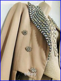 Vintage 50s-60s Western Showgirl Rhinestone Costume. Circus Theater Stage! Rare