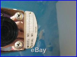 Vintage 60's Teisco 4KL Silvertone 1437 Shark Fin Guitar! Metallic Blue RARE