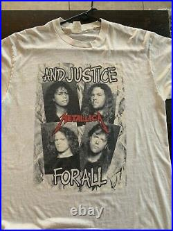Vintage 80s Metallica And Justice For All Tour, Rock T- Shirt, RARE, Mens XL