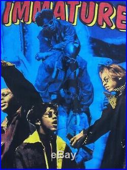 Vintage 90s Bootleg Immature Rap Tee sLovers Groove Double sided Rare Grail Vtg