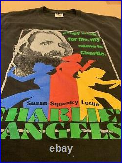 Vintage 90s Charles Manson Charlies Angels T-Shirt Adult Medium RARE Weird