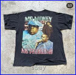 Vintage 90s Notorious Big Rap Tee XL Very Rare Tshirt OG Biggie VTG