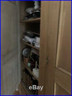 Vintage Antique Old English PIne Cabinet Cupboard Estate Furniture RARE