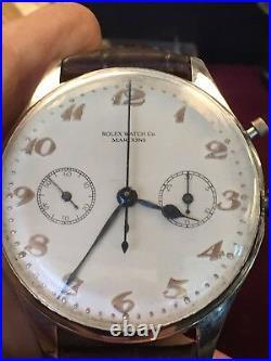 Vintage Antique Rolex Split Second Rattrapante Chronograph Valjoux 55 RARE