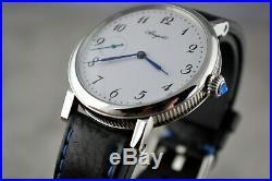 Vintage Breguet Classic Watch Swiss Mechanical Winding Rare Mens White 3210BA