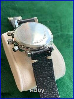Vintage Bucherer Mens Chronograph Large Size Rare Valjoux 7733